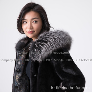 밍크 모피 여성 Reversible Women Coat